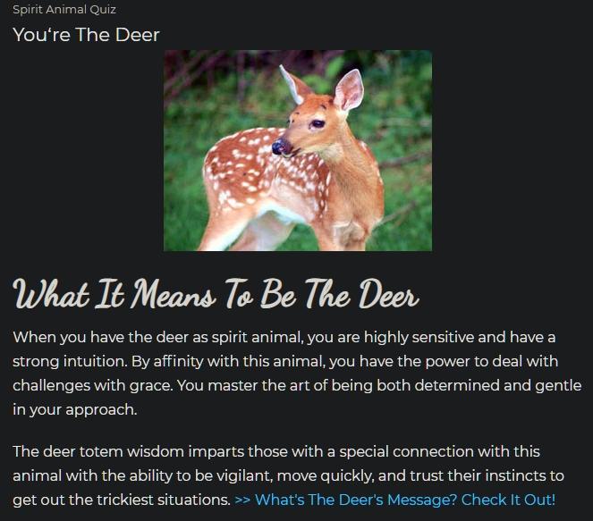 what is your spiritual animal CD? - Forums - MyAnimeList net