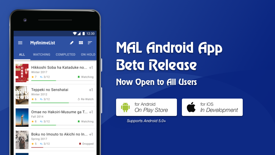 Update Mar 1] MAL's Official Mobile App - Now in Open Beta