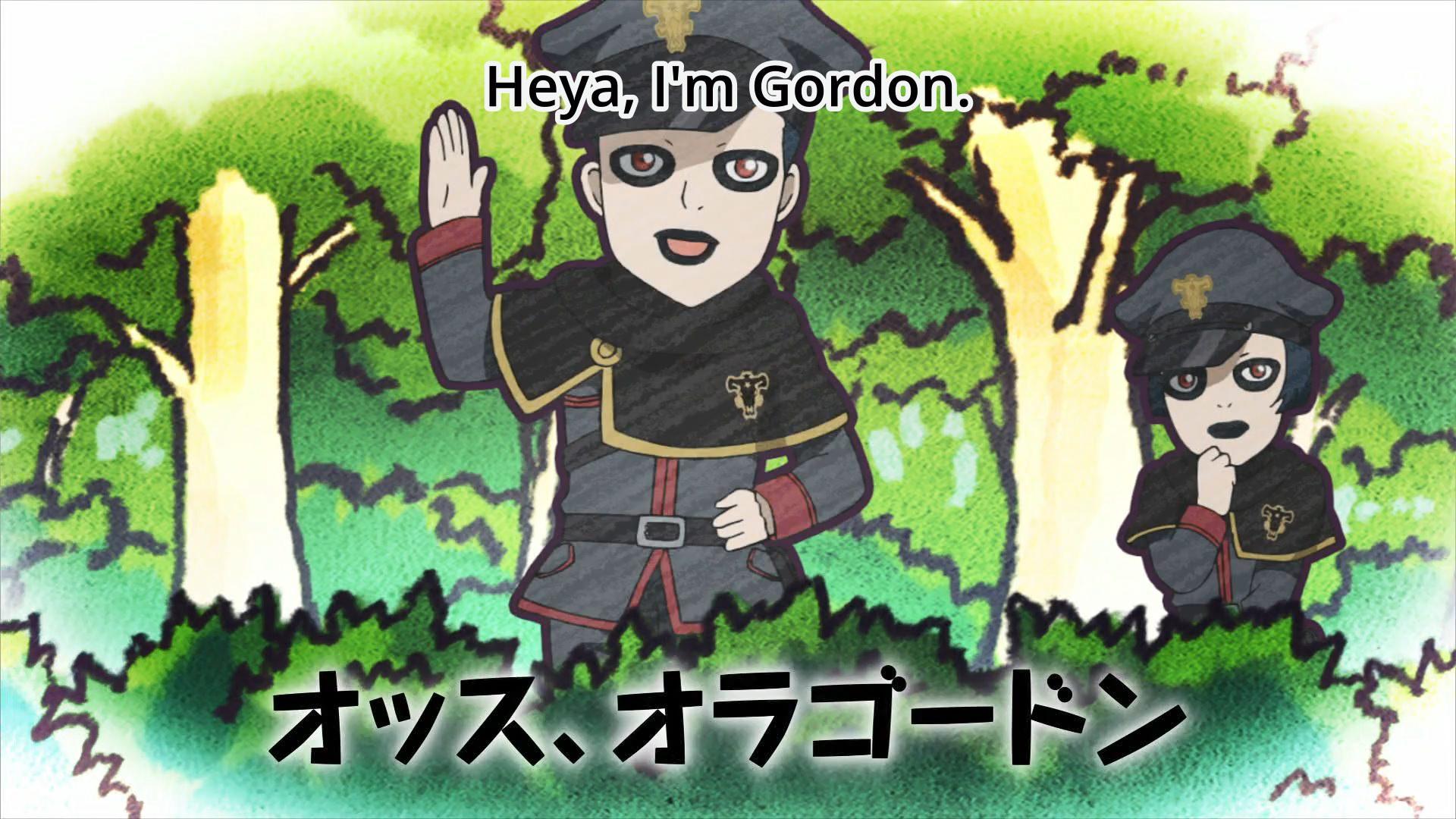 gordon black clover