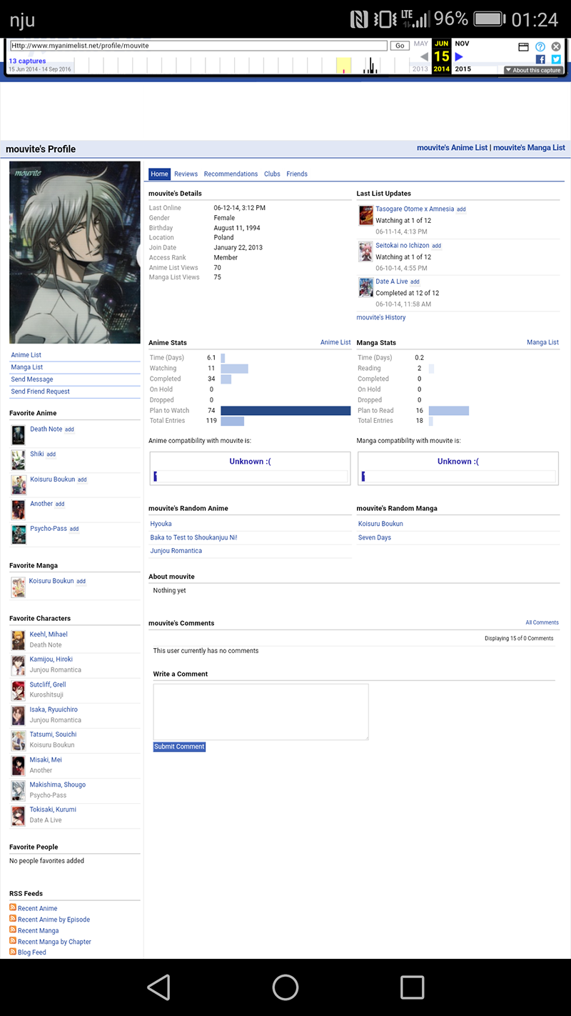 WaybackMachine Your Profile v2: Eletric Weeaboo - Forums