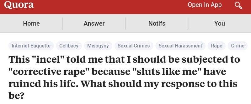 'Incel': Reddit bans misogynist men's group blaming women ...