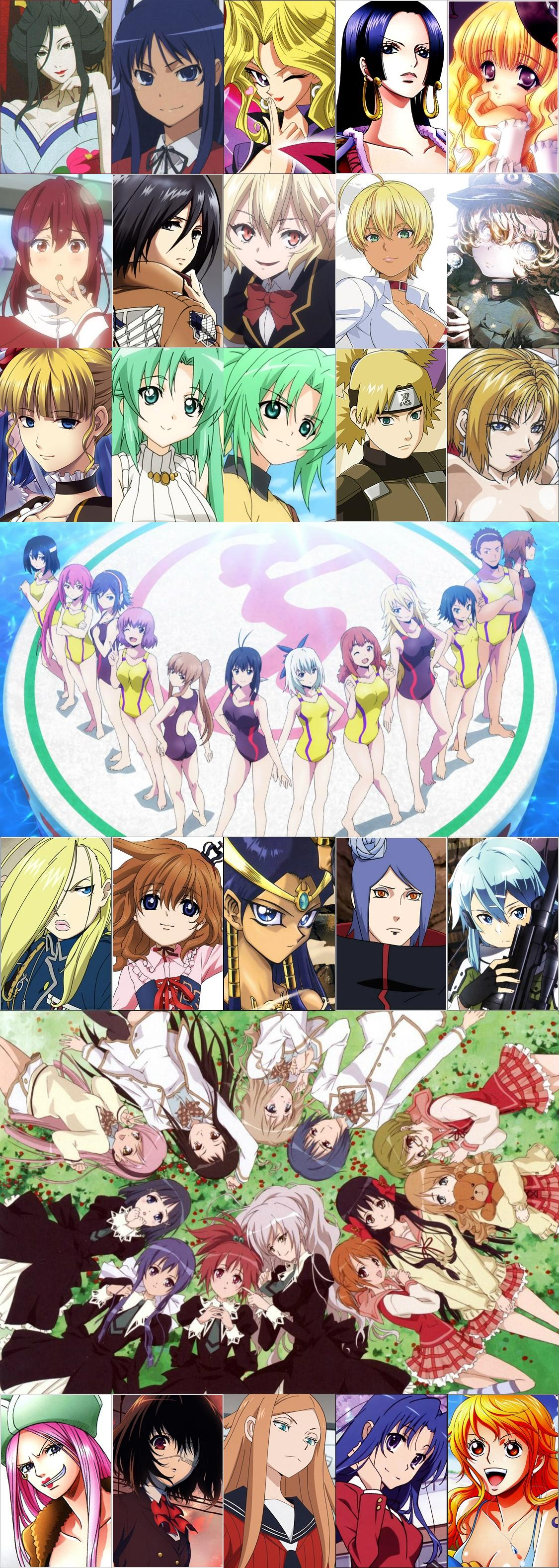 Favorite female anime characters full list