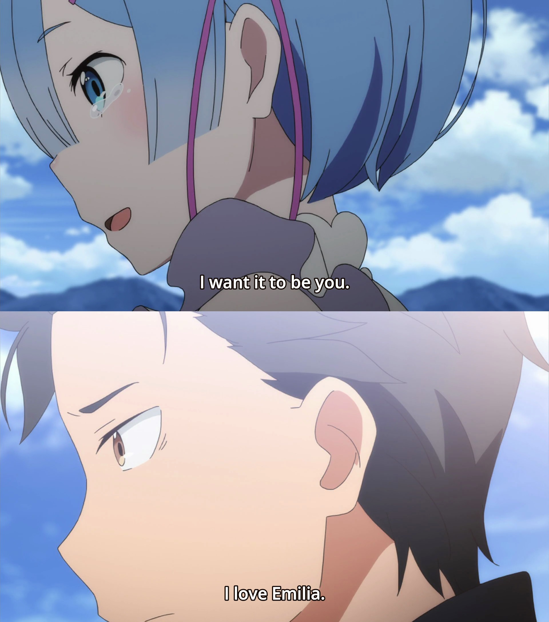 Image result for Rezero I love emilia