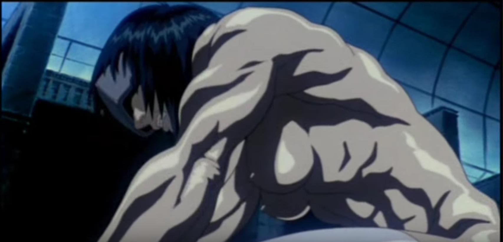 Muscle anime girl