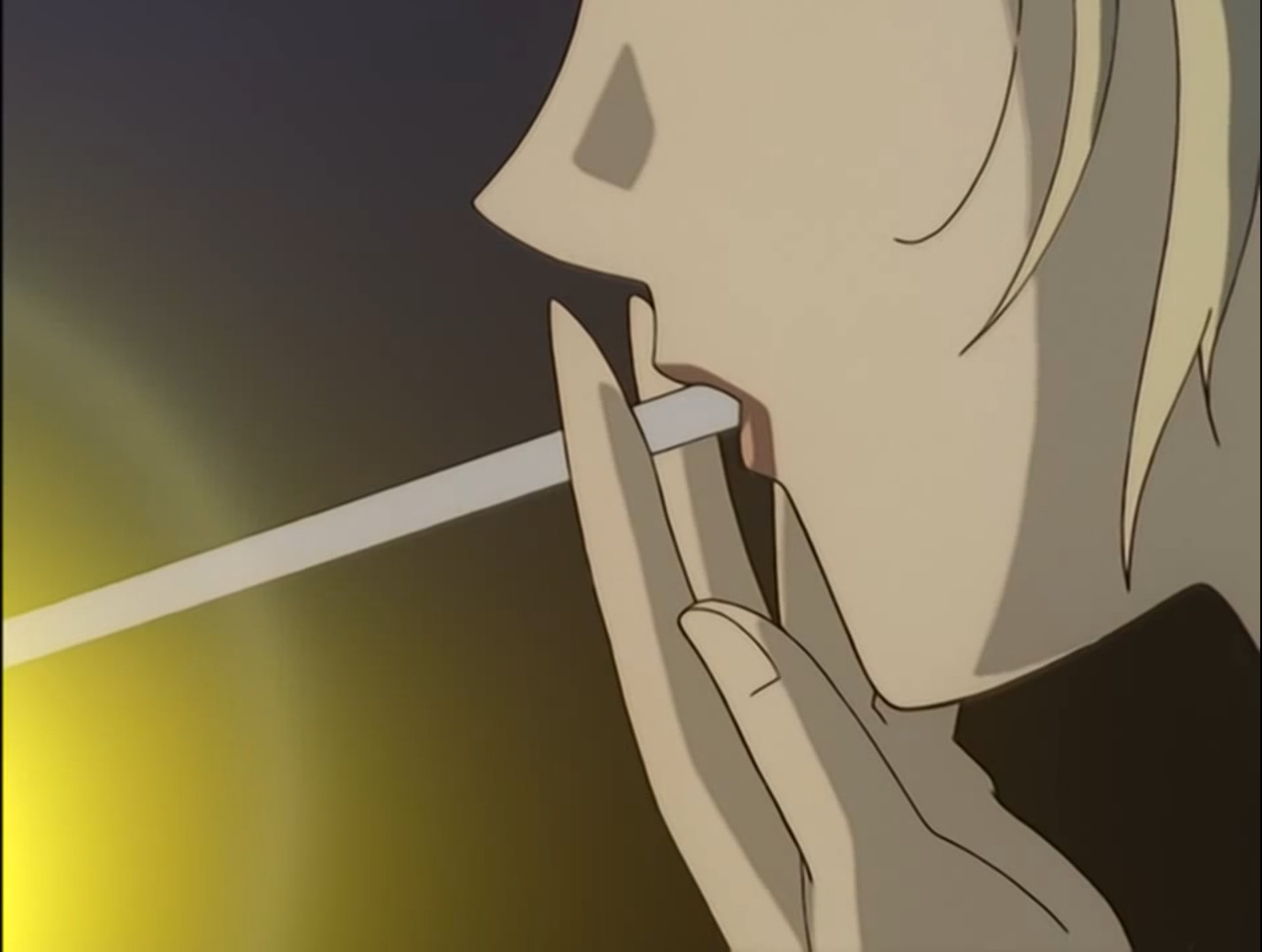Anime girl smoking gif
