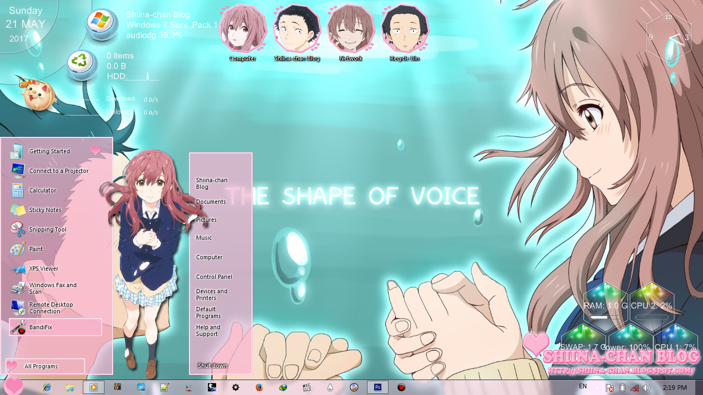 Windows 7 Theme Koe No Katachi